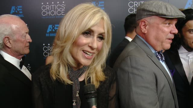judith light on being at the event at the 2015 critics' choice television awards at the beverly hilton hotel on may 31, 2015 in beverly hills,... - 評論家点の映像素材/bロール