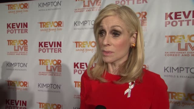 interview judith light talks about what she would say to encourage young lgbtq people at the trevor project's trevorlive new york at marriott marquis... - marriott marquis new york stock videos & royalty-free footage