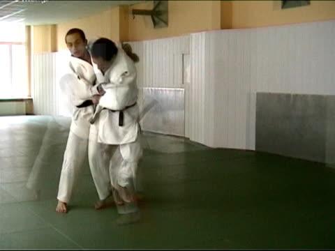 柔道コンバット-武術 - 柔道点の映像素材/bロール