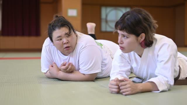 judo woman - 発話点の映像素材/bロール