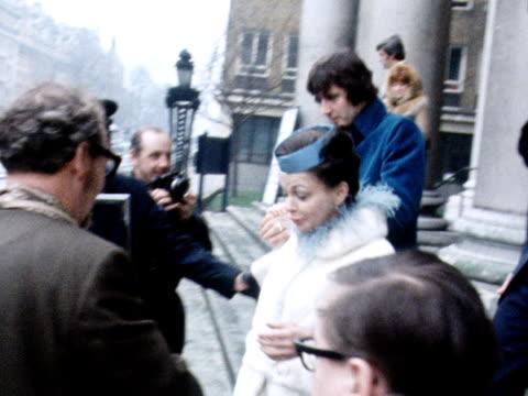 Judy Garland and Mickey Dean leave St Marylebone Church following their wedding blessing ceremony