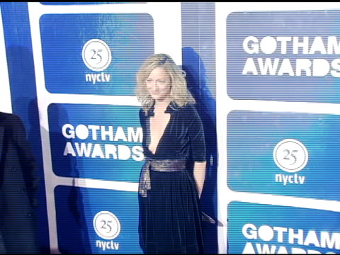 judy greer and guest at the ifp's 15th annual gotham awards arrivals at pier 60 at chelsea piers in new york, new york on november 30, 2005. - independent feature project video stock e b–roll