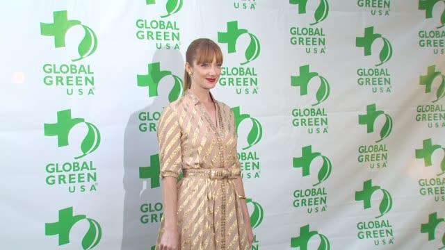vídeos de stock, filmes e b-roll de judy greer at the global green usa 14th annual millennium awards at santa monica ca - judy greer