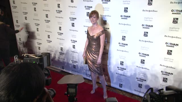 vídeos de stock, filmes e b-roll de judy greer at the ifp's 21st annual gotham independent film awards red carpet at new york ny - judy greer
