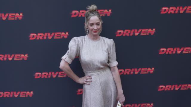 vídeos de stock, filmes e b-roll de judy greer at the los angeles premiere of driven on july 29 2019 in hollywood california - judy greer