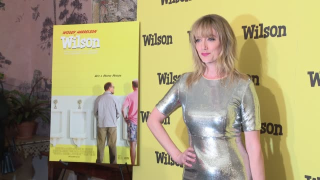 vídeos de stock, filmes e b-roll de judy greer at wilson special screening presented by fox searchlight at the whitby hotel on march 19 2017 in new york city - judy greer