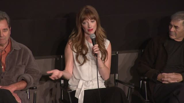 vídeos de stock, filmes e b-roll de judy greer explains how she's been preparing her whole career for this film particularly the hospital scenes at the 'the descendants' 49th annual new... - judy greer