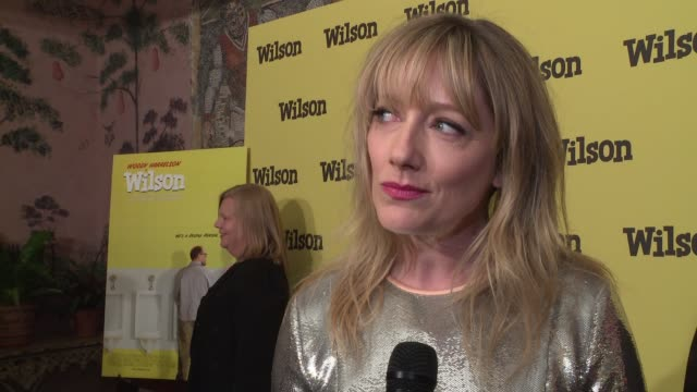vídeos de stock, filmes e b-roll de interview judy greer on the film and it's incredible cast at wilson special screening presented by fox searchlight at the whitby hotel on march 19... - judy greer