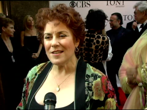 judy kaye nominee for leading actress in a play for 'souvenir' on feeling ecstatic her 1988 tony win for 'phantom of the opera' her 'mamma mia'... - radio city music hall stock videos & royalty-free footage