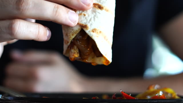 juicy chicken wrap - juicy stock videos & royalty-free footage