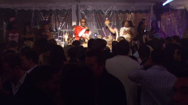 juicy j and dj paul of three 6 mafia at the sammy sideout's 3rd annual alzheimer's benefit at the playboy mansion shuttle plu @ hotel angelino in los... - three 6 mafia stock videos and b-roll footage