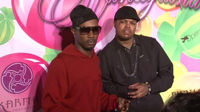 juicy 'j' dj paul at the 6th annual kandyland at the playboy mansion at beverly hills ca - three 6 mafia stock videos and b-roll footage