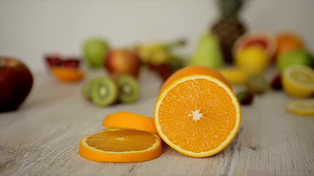 vídeos y material grabado en eventos de stock de jugo de naranja, rollo de b - potasio