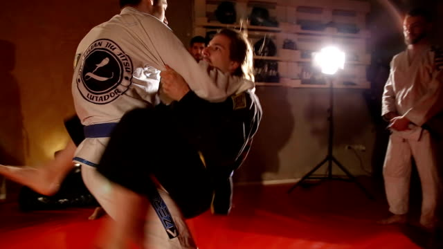 jujitsu moves - martial arts stock videos and b-roll footage