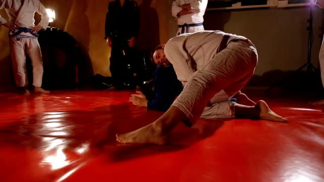 jujitsu practicing - self defense stock videos and b-roll footage