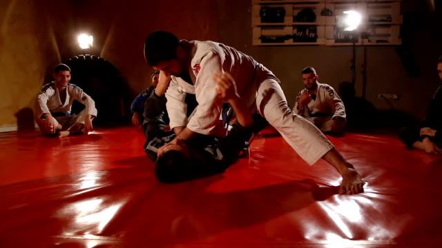 jujitsu techniques - brazilian culture stock videos & royalty-free footage