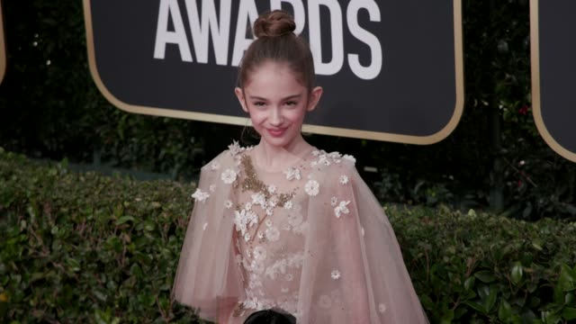 julia butters at the 77th annual golden globe awards at the beverly hilton hotel on january 05 2020 in beverly hills california - golden globe awards stock videos & royalty-free footage