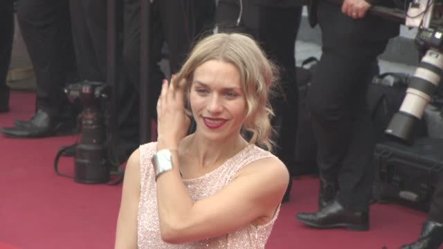 julia dietze eleonora carisi at 'loving' red carpet at grand theatre lumiere on may 16 2016 in cannes france - grand theatre lumiere stock videos & royalty-free footage