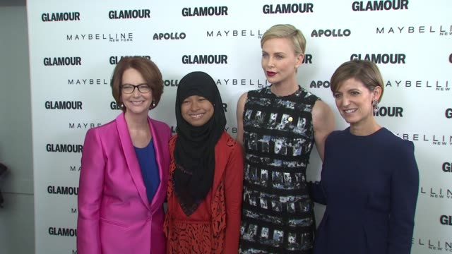 Julia Gillard Nurfahada Charlize Theron Cindi Leive at Glamour's The Power Of An Educated Girl With Special Guest First Lady Michelle Obama at The...