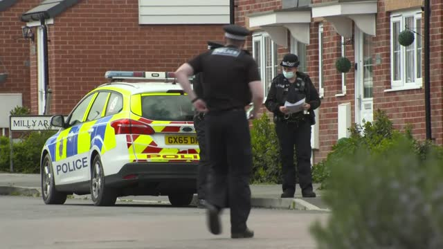 police continue to question man arrested in connection to case; england: kent: ext various shots of police, forensic officers and vehicles outside... - connection stock videos & royalty-free footage