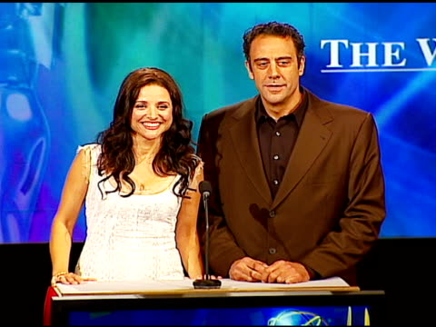julia louis-dreyfus and brad garrett at the 2006 emmy awards nominations announcement at the leonard h. goldenson theatre in los angeles, california... - emmy awards点の映像素材/bロール