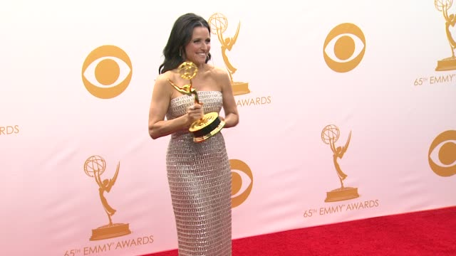 julia louis-dreyfus at 65th annual primetime emmy awards - photo room on 9/22/2013 in los angeles, ca. - annual primetime emmy awards stock videos & royalty-free footage