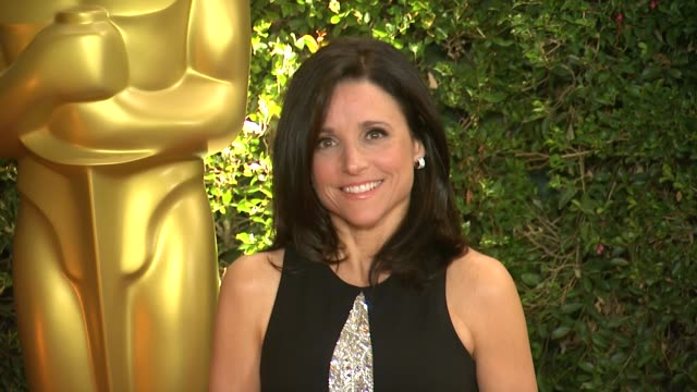 julia louisdreyfus at academy of motion picture arts and sciences' governors awards in hollywood ca on - academy of motion picture arts and sciences stock videos & royalty-free footage