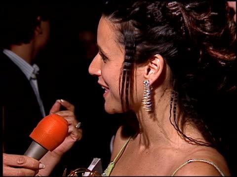 Julia LouisDreyfus at the 1996 Emmy Awards Post at the Pasadena Civic Auditorium in Pasadena California on September 8 1996