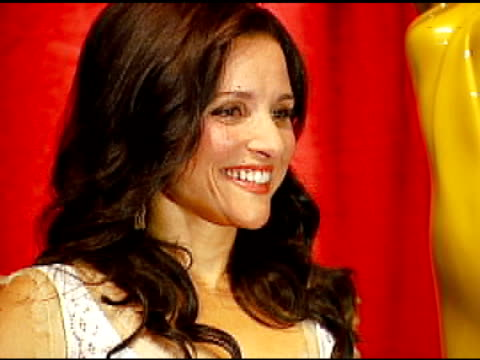julia louis-dreyfus at the 2006 emmy awards nominations announcement at the leonard h. goldenson theatre in los angeles, california on july 6, 2006. - emmy awards nominations stock videos & royalty-free footage