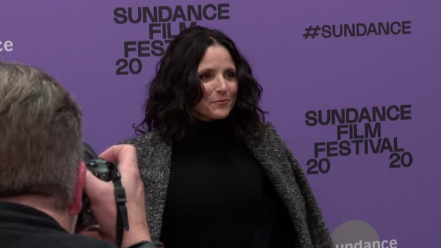 "julia louisdreyfus at the ""downhill"" sundance premiere presented by searchlight pictures sundance film festival at eccles center theatre on january... - sundance film festival stock videos & royalty-free footage"