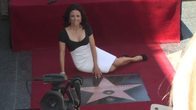 julia louis-dreyfus at the julia louis-dreyfus honored with a star on the hollywood walk of fame at hollywood ca. - walk of fame stock videos & royalty-free footage