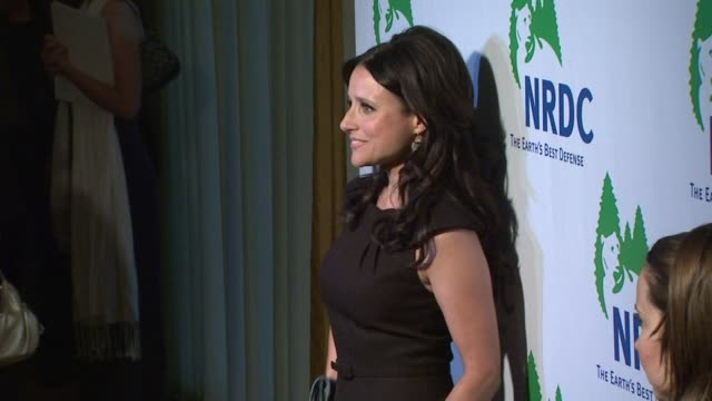julia louisdreyfus at the national resources defense council's 20th anniversary celebration at beverly hills ca - national resources defense council stock videos & royalty-free footage