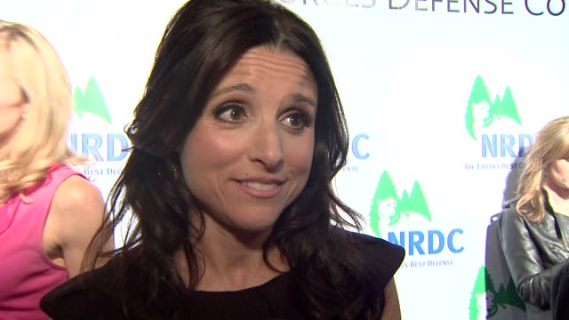 julia louisdreyfus on hosting the event on being an environmental activist at the national resources defense council's 20th anniversary celebration... - national resources defense council stock videos & royalty-free footage