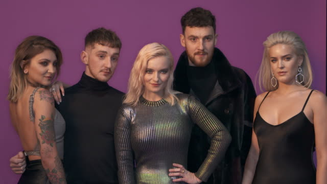 julia michaels, clean bandit, anne-marie in the studio during the mtv emas 2017 held at the sse arena, wembley on november 12, 2017 in london,... - mtv europe music awards stock videos & royalty-free footage