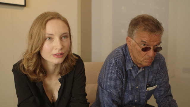 INTERVIEW Julia Roy on working with director Benoit Jacquot at 'A Jamais' interview 73rd Venice Film Festival at Palazzo del Cinema on September 09...