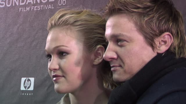 julia stiles and jeremy renner at the 2006 sundance film festival a little trip to heaven premiere at the eccles theatre in park city utah on january... - julia stiles stock videos and b-roll footage