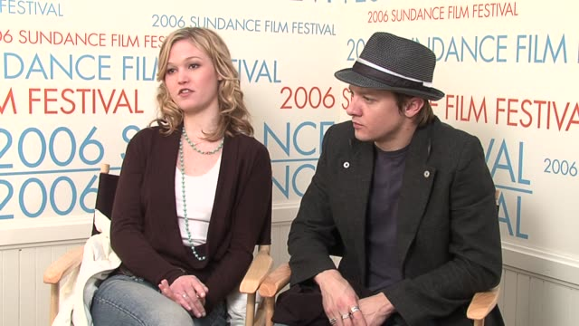 julia stiles and jeremy renner at the 2006 sundance film festival wireimage video studio at wireimage studio in park city utah on january 26 2006 - julia stiles stock videos and b-roll footage