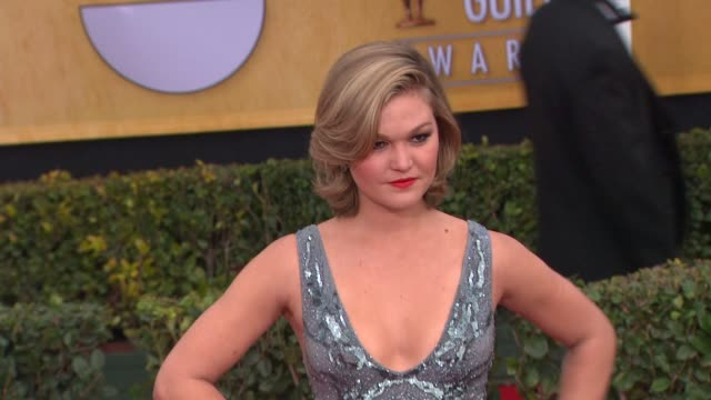 julia stiles at 19th annual screen actors guild awards arrivals on 4/12/13 in los angeles ca - julia stiles stock videos and b-roll footage