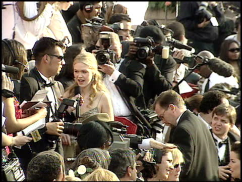 julia stiles at the 2001 academy awards at the shrine auditorium in los angeles california on march 25 2001 - 73rd annual academy awards stock videos & royalty-free footage