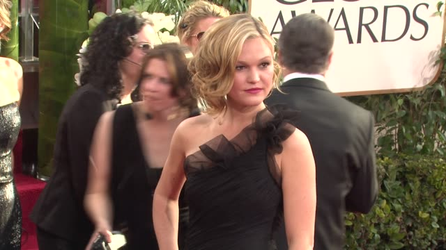 julia stiles at the 68th annual golden globe awards arrivals at beverly hills ca - julia stiles stock videos and b-roll footage