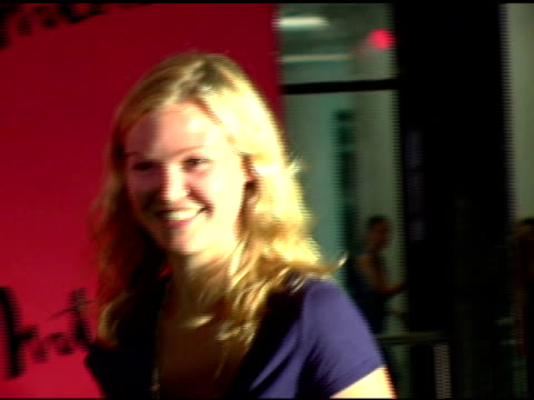 julia stiles at the arckid at hugo boss private concert series at hugo boss roof deck in new york new york on august 2 2006 - julia stiles stock videos and b-roll footage