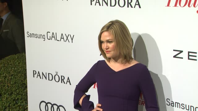 julia stiles at the hollywood reporter's nominees' night 2013 2/4/2013 in beverly hills ca - julia stiles stock videos and b-roll footage
