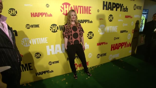 julia stiles at the showtime premiere of the original comedy series happyish at sunshine cinema on april 20 2015 in new york city - julia stiles stock videos and b-roll footage