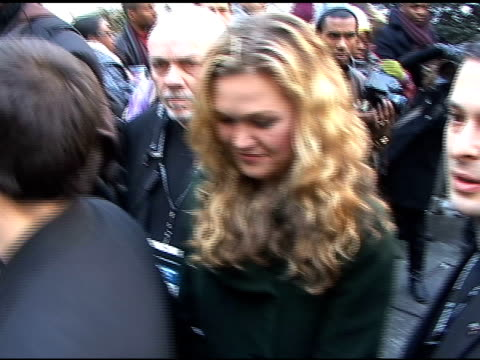 julia stiles at tracey reese fashion show fall 2010 mbfw at the celebrity sightings in new york at new york ny - julia stiles stock videos and b-roll footage