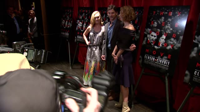 julia stiles eric bana and rebecca hall at closed circuit new york special screening on august 19 2013 at tribeca grand screening room new york new... - julia stiles stock videos and b-roll footage