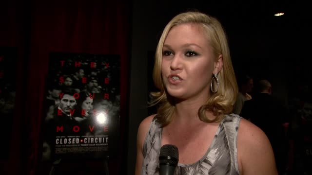 interview julia stiles on what was interesting to her about this film on her character on the relevance of the film the world we live in under... - julia stiles stock videos and b-roll footage