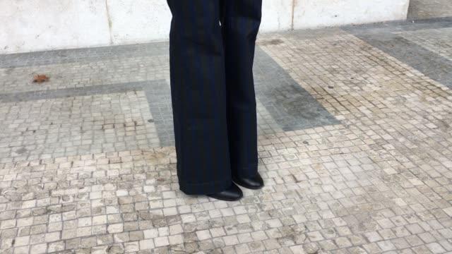 Julia Van Hagen wears a Sandro Monceau Bomber jacket Laz Milo earings Joseph jumper Sea Farer jeans and Balenciaga boots as she arrives at the...