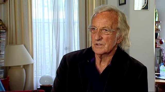 julian assange seeks asylum at ecuadorean embassy: celebrity supporters may lose bail money; int john pilger interview sot - john pilger stock videos & royalty-free footage