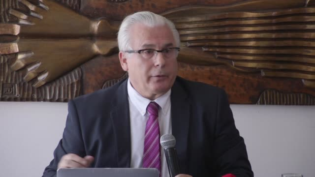 julian assange's lawyer baltasar garzon announces in a press conference that wikileaks founder julian assage has sued the ecuadoran government for... - founder stock videos and b-roll footage