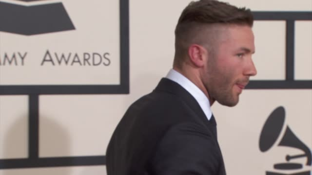 Julian Edelman at The 57th Annual Grammy Awards Red Carpet at Staples Center on February 08 2015 in Los Angeles California